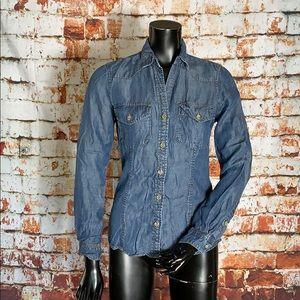 Cloth & Stone Chambray Button Down Blouse